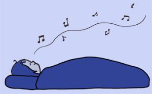 深夜の歌声